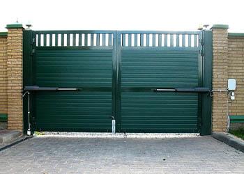 Распашные ворота стандарт